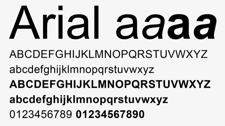font website arial