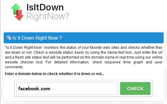 Isitdownrightnow untuk cek website down