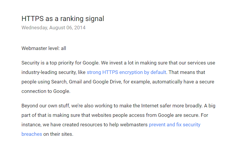 HTTPS Rangking Signal