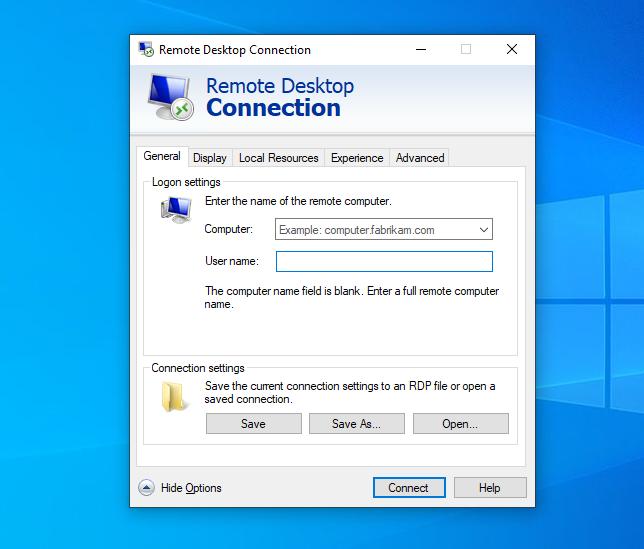 Memasukan Username dan Password akun RDP