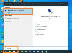 Membuka Remote Desktop Protocol