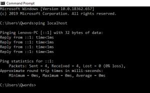 Ping Localhost Dengan CMD