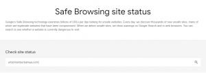 Cek URL domain berbahaya