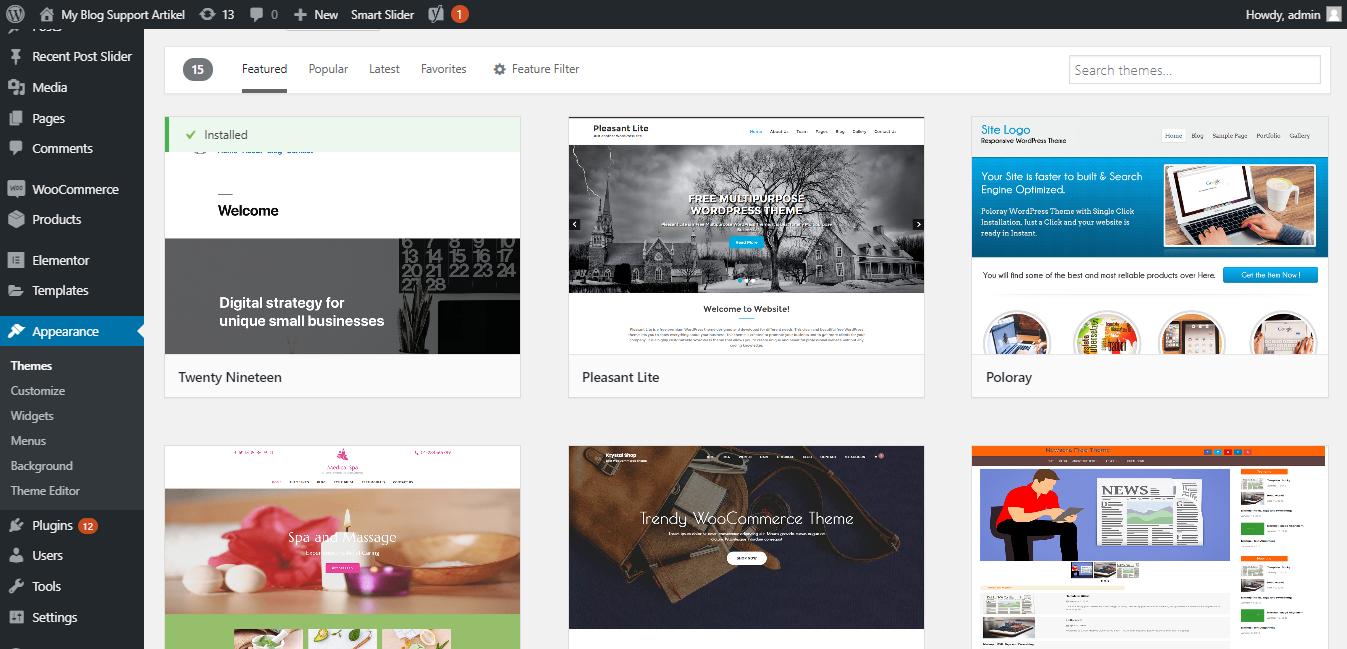 Install Tema WordPress