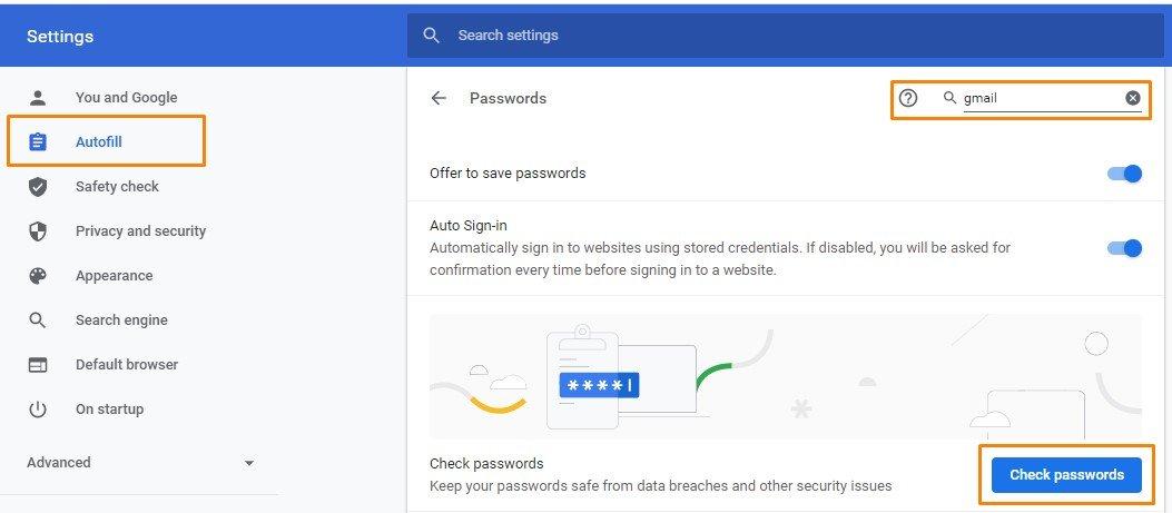 Mencari password Gmail
